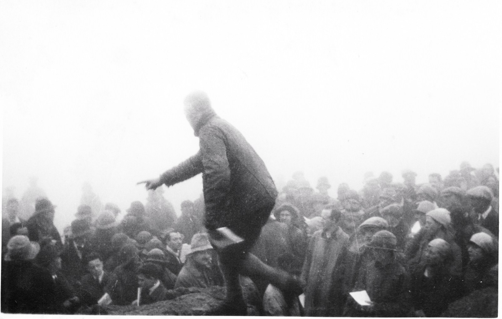 Arthur Wakefield unveiling the Memorial Plaque; Great Gable 8th June 1924 (photo Richard Hall)