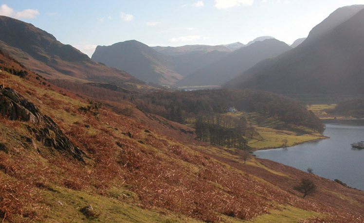 Buttermere valley from Rannerdale Knotts