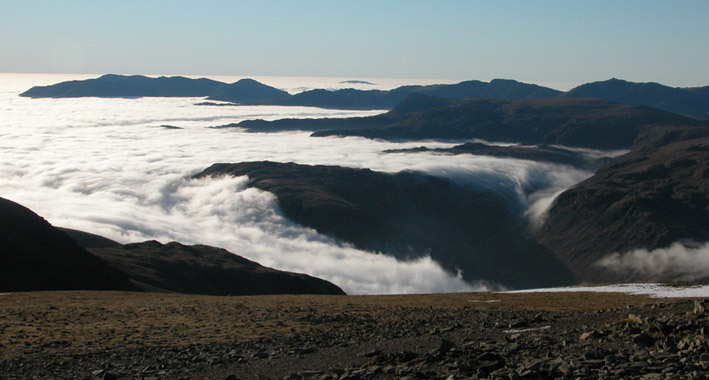 Coniston and Bowfell from Helvellyn
