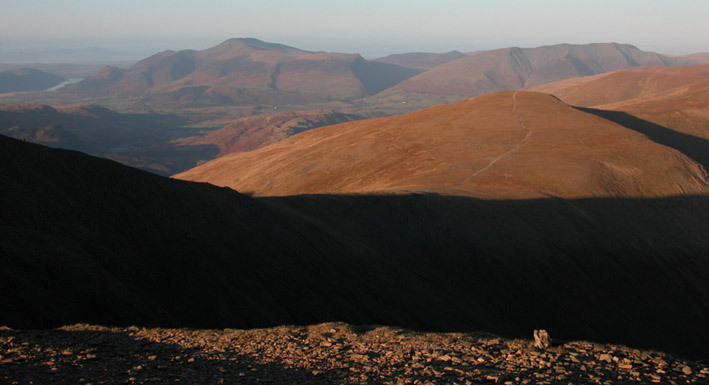 Skiddaw and Blencathra from Helvellyn